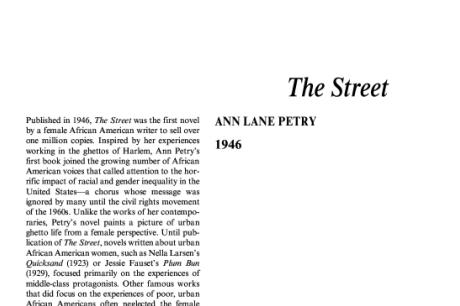 نقد رمان خیابان اثر آن پتری The Street by Ann Petry