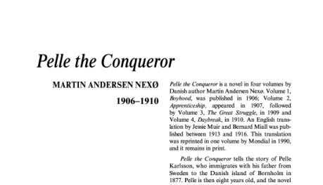 نقد رمان Pelle the Conqueror by Martin Andersen Nexø