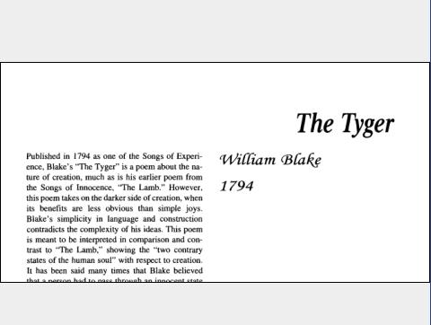 نقد شعر The Tyger by William Blake