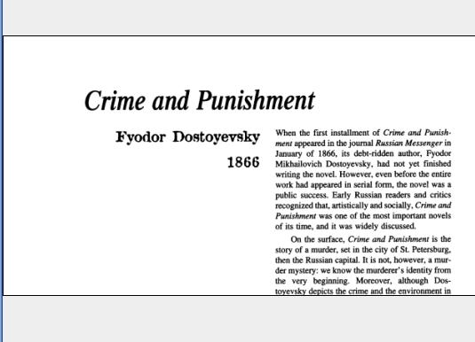 نقد رمان Crime and Punishment by Fyodor Dostoyevsky