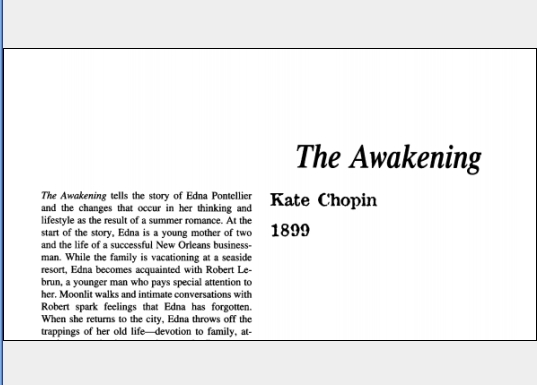 نقد رمان The Awakening by Kate Chopin