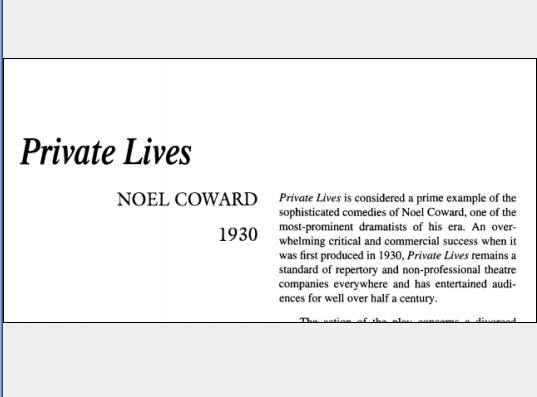 نقد نمایشنامه Private Lives by Noël Coward