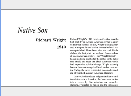 نقد رمان Native Son by Richard Wright