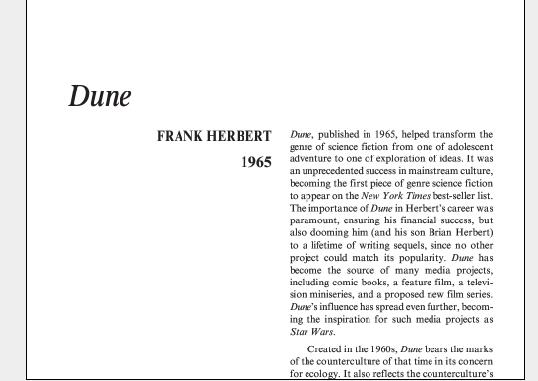نقد رمان Dune by Frank Herbert
