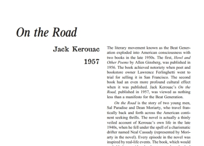 نقد رمان On the Road by Jack Kerouac