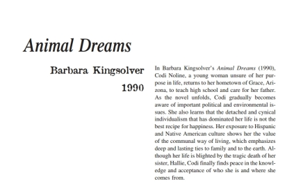 Barbara Kingsolver Essays (Examples)