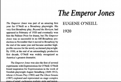 نقد نمایشنامه The Emperor Jones by Eugene O Neill