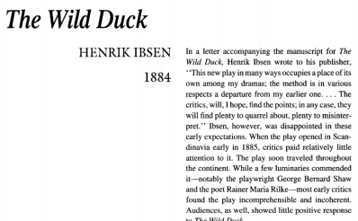 An analysis of the wild duck written by henry ibsen