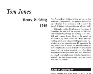 نَقدِ رُمانِ Tom Jones by Henry Fielding