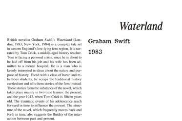 نَقدِ رُمانِ Waterland by Graham Swift