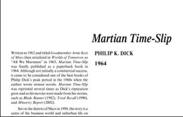 نَقدِ رُمانِ Martian Time-Slip by Philip K. Dick