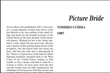 نَقدِ رُمانِ Picture Bride by Yoshiko Uchida