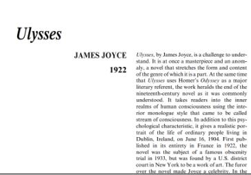 نَقدِ رُمانِ Ulysses by James Joyce