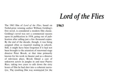 نَقدِ رُمانِ Lord of the Flies by William Golding