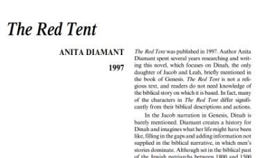 نَقدِ رُمانِ The Red Tent by Anita Diamant