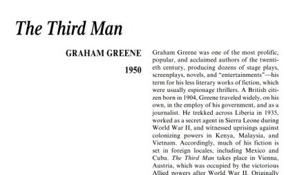 نَقدِ رُمانِ The Third Man by Graham Greene