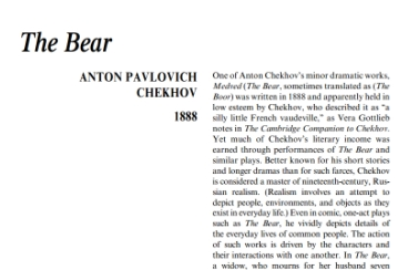 نقد نمايشنامه The Bear by Anton Chekhov