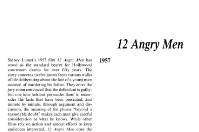 نقد نمايشنامه Angry Men by Sidney Lument