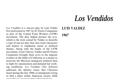 نقد نمايشنامه Los Vendidos by Luis Valdez