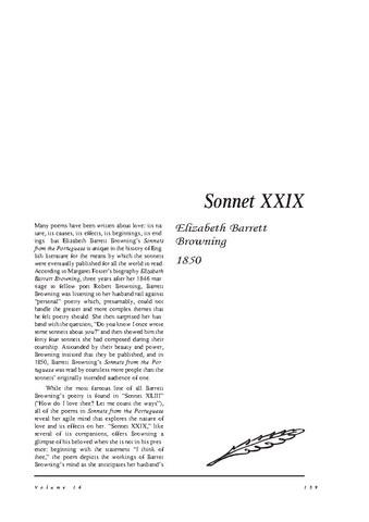 نقد شعر   Sonnet XXIX  by Elizabeth Barrett Browning
