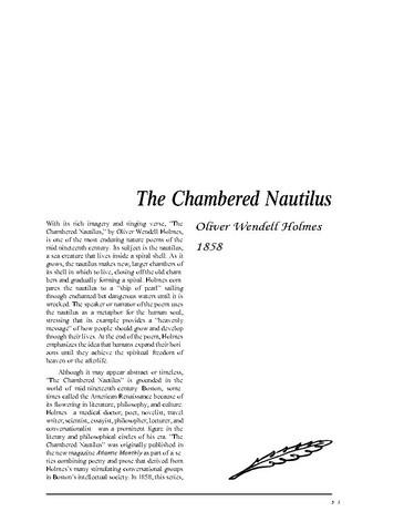نقد شعر   The Chambered Nautilus by Oliver Wendell Holmes