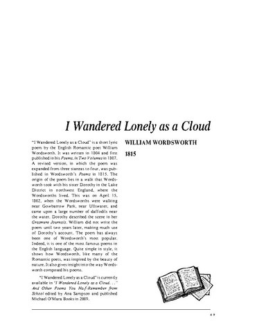 نقد شعر   I Wandered Lonely as a Cloud by William Wordsworth