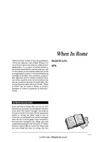 when in rome mari evans
