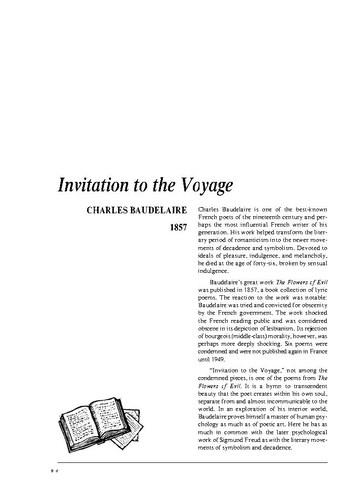 نقد شعر invitation to the voyage by charles baudelaire