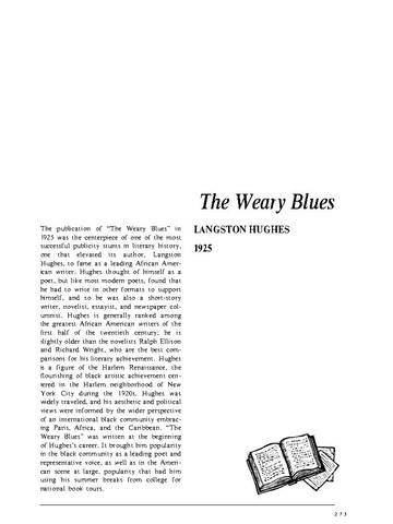 نقد شعر   The Weary Blues by Langston Hughes