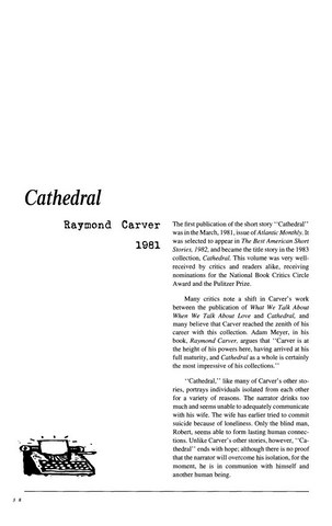 نقد داستان کوتاه   Characters of Cathedral by Raymond Carver