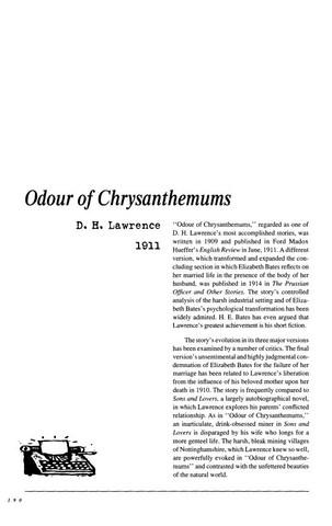 نقد داستان کوتاه   Odour of Chrysanthemums by...D.H.Lawrence