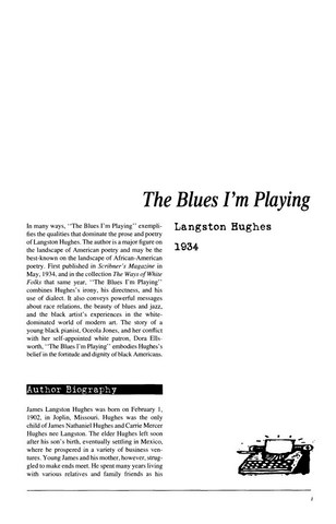نقد داستان کوتاه the blues im playing by langston hughes