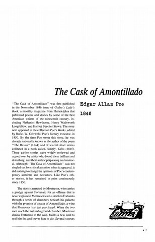 نقد داستان کوتاه   The Cask of Amontillado by Edgar Allan Poe