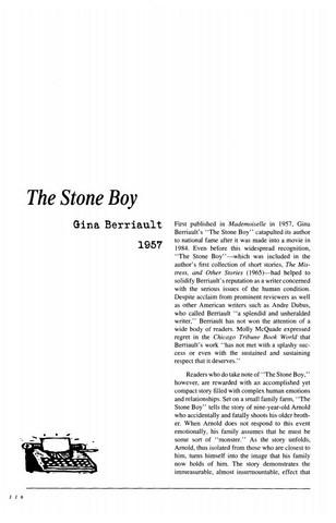 نقد داستان کوتاه   The Stone Boy by Gina Berriault