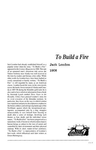 نقد داستان کوتاه   To Build a Fire  by Jack London