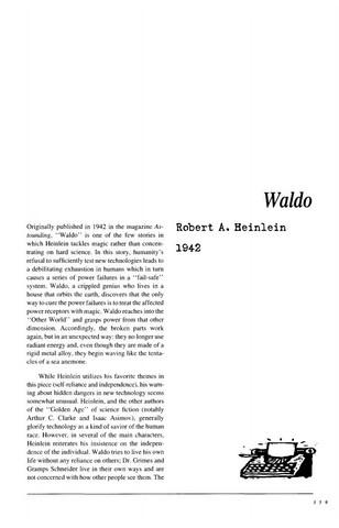 نقد داستان کوتاه   Waldo by Robert Heinlein