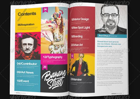 20 قالب آماده مجله و نشریه در محیط indesign