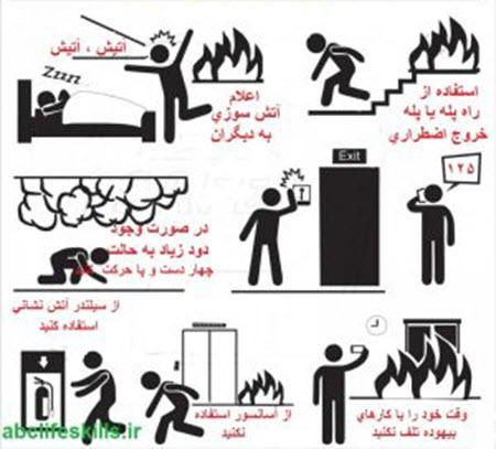 ایمنی و پیشگیری از آتش سوزی (زبان انگلیسی)