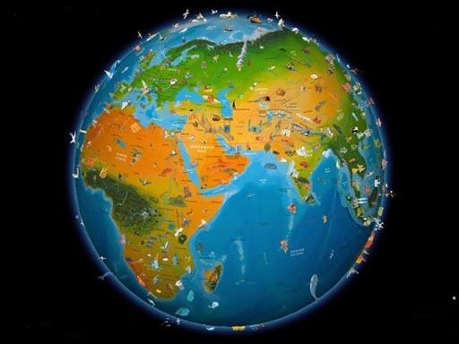 بسته کامل نقشه تمام کشورهای دنیا