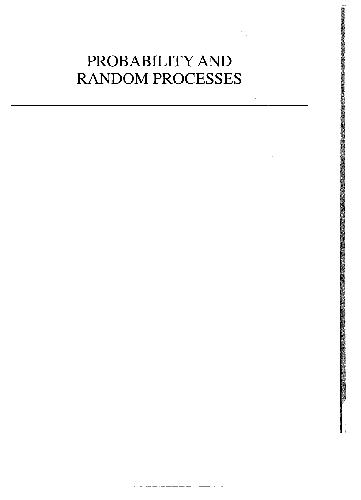 دانلود كتاب Probability and random processes: using MATLAB with applications to continuous and discrete time systems
