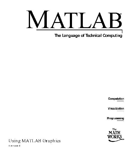 Matlab The Language of Technical Computing External Interfaces
