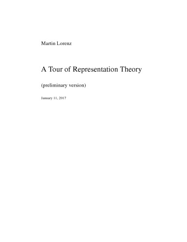 A Tour of Representation Theory [draft]