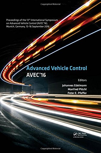 Advanced Vehicle Control Proceedings of the 13th International Symposium on Advanced Vehicle Control, September 13-16, 2016, Munich, Germany