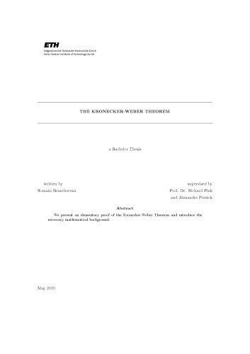 The Kronecker-Weber theorem [Bachelor thesis]