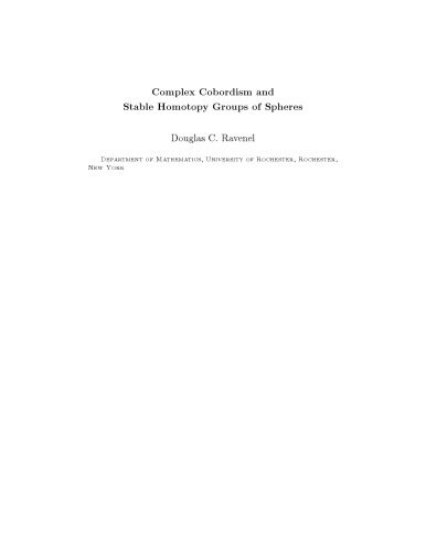 Complex Cobordism and Stable Homotopy Groups of Spheres