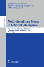 Multi-disciplinary Trends in Artificial Intelligence: 10th International Workshop, MIWAI 2016, Chiang Mai, Thailand, December 7-9, 2016, Proceedings