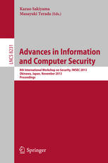 Advances in Information and Computer Security: 8th International Workshop on Security, IWSEC 2013, Okinawa, Japan, November 18-20, 2013, Proceedings
