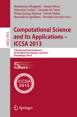 Computational Science and Its Applications – ICCSA 2013: 13th International Conference, Ho Chi Minh City, Vietnam, June 24-27, 2013, Proceedings, Part