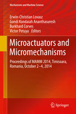 Microactuators and Micromechanisms: Proceedings of MAMM 2014, Timisoara, Romania, October 2-4, 2014