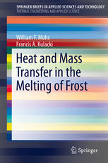 heat and m transfer in the melting of frost